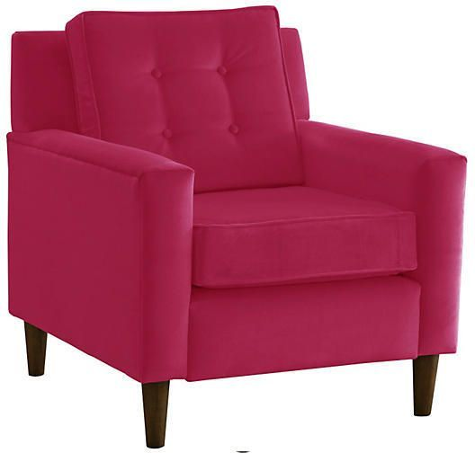 one kings lane winston club chair berry velvet pink pinterest rh pinterest com