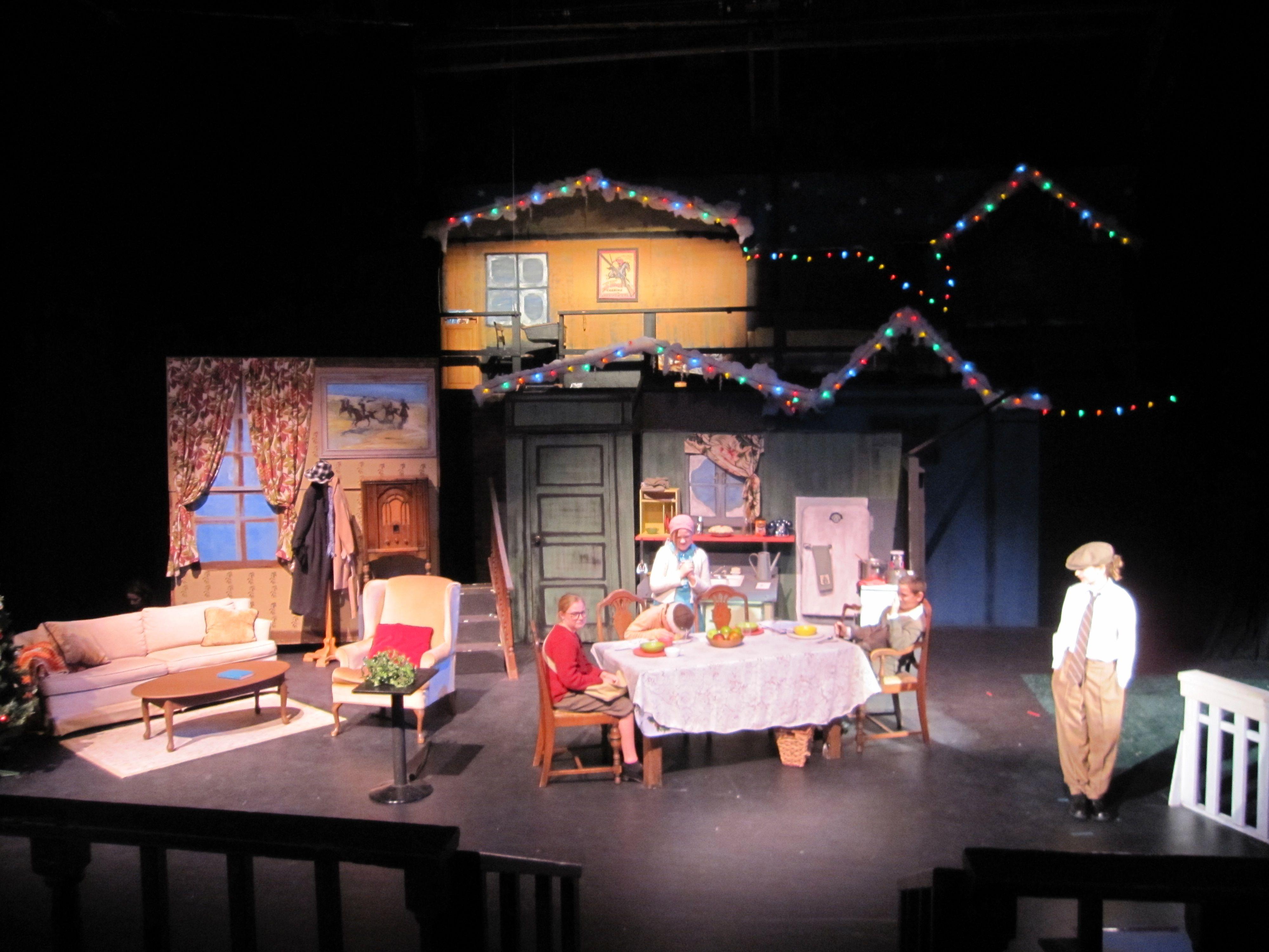 a christmas story set design by kim ford kitz kimfordkitzcom - What Year Is Christmas Story Set