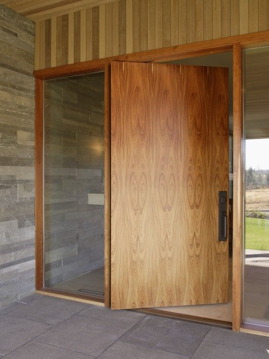 Exterior marvellous contemporary entry with swivel flat for Entry door companies
