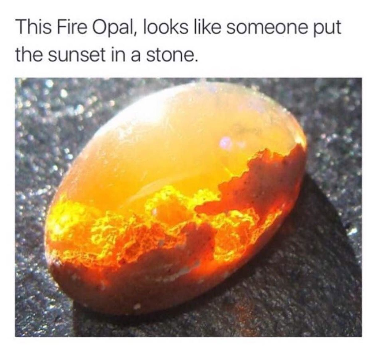 The Fire Opal Looks Like Sunset In A Stone Interesting Wet Brush Gemstone Abalone
