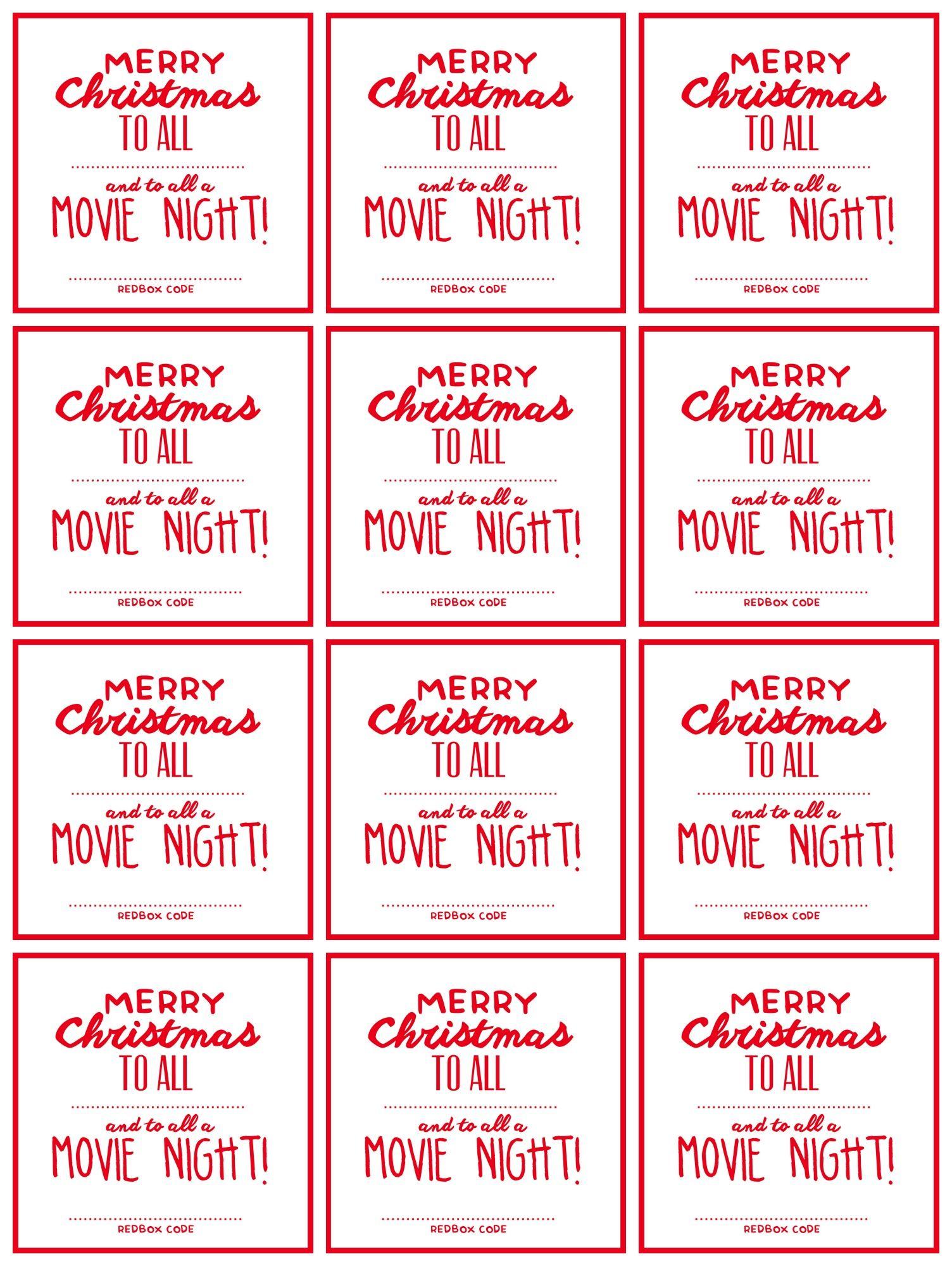 redbox codes group printable teacher christmas gifts christmas gift decorations merry christmas to all - Redbox Christmas Movies