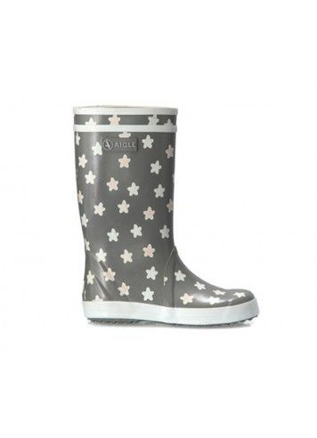 Lolly Pop Rainboots / Grey w/ Stars