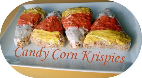 candy corn rice krispie treat