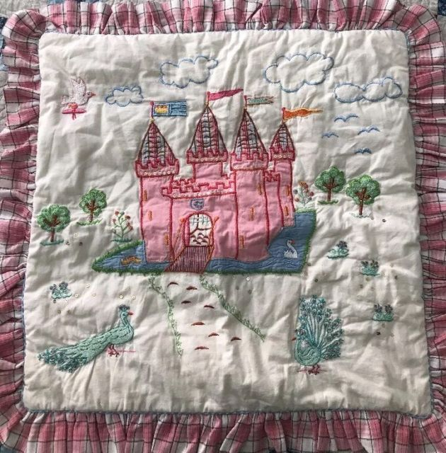 Room Seven Designer Sham Cushion Cover Quilted Castle Princess ... : quilted castle - Adamdwight.com