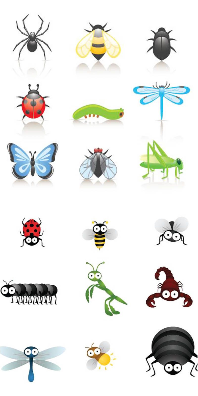 Cartoon insects vector | Vector Graphics Blog | play room ...