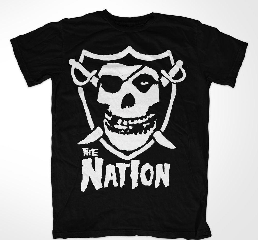 OAKLAND RAIDERS THE NATION SKULL SHIRT #Unbranded