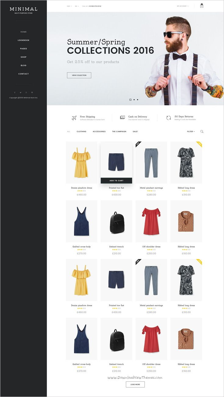 Minimal is a clean and modern design premium #PSD template for multipurpose #eCommerce #website with 16 stunning homepage layouts and 43 organized PSD pages download now➯ https://themeforest.net/item/minimal-mutilconcept-ecommerce-psd-template/17186180?ref=Datasata