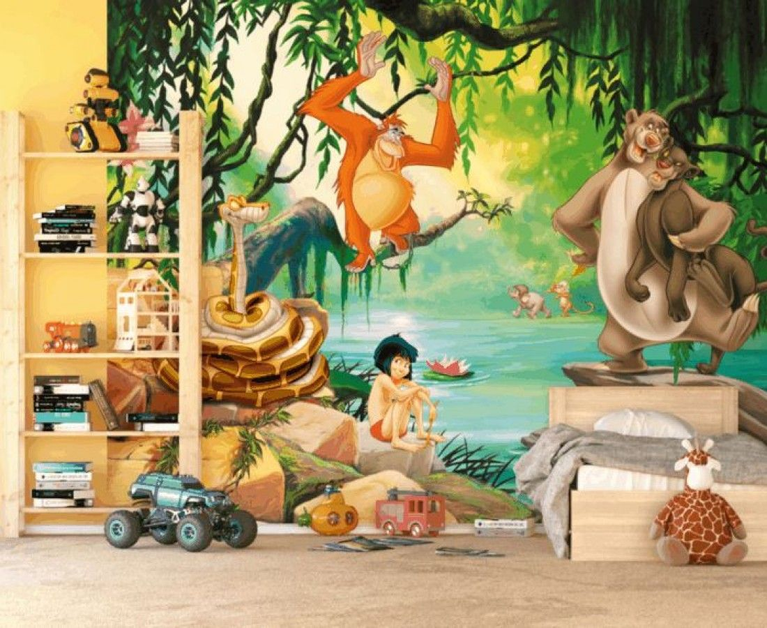 Di disney frozen wall murals - The Jungle Book And Mowgli Disney Wallpaper Mural By Wallandmore New Collection Disney Licensed