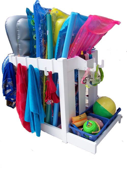 Pool Products, Pool Organizers, Backyard Pool Products, Pool Toy Organizer, Pool  Toys, Pool Towel Hooks, Poolside Item Storage, Pool Float Organizer And ...