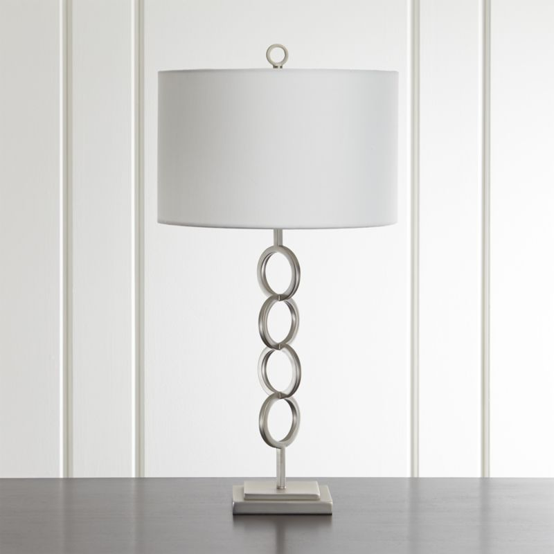 Axiom Brushed Silver Table Lamp Home Silver Table Lamps Brass