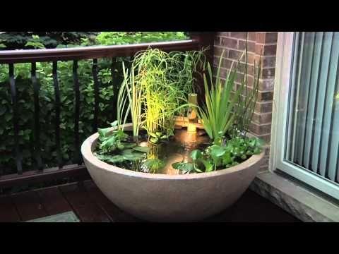 DIY Patio Pond, Enjoy The Lifestyle! Water PondGarden ...