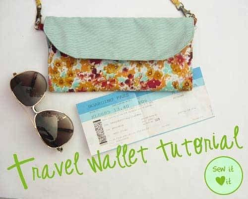 Free Sewing Pattern - Travel Wallet | Free Sewing Patterns for Bags ...