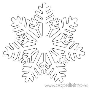 Copos de nieve para colorear   PAPELISIMO | Ropa | Snowflake