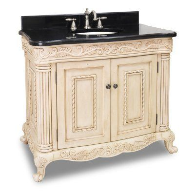 Lyn Design Van011 T Antique Ornate 39 12 In Single Bathroom Vanity With Optional Mirror Traditional Bathroom Vanity Beautiful Bathroom Vanity