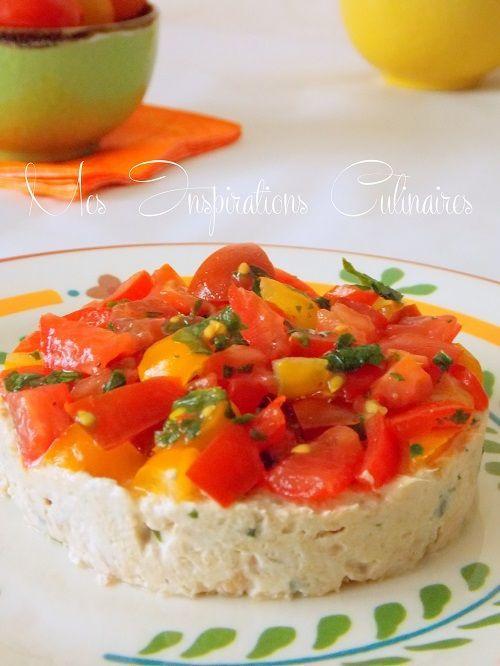 tartare tomates aux rillettes de thon 1 recettes v g tariennes pinterest rillettes de thon. Black Bedroom Furniture Sets. Home Design Ideas