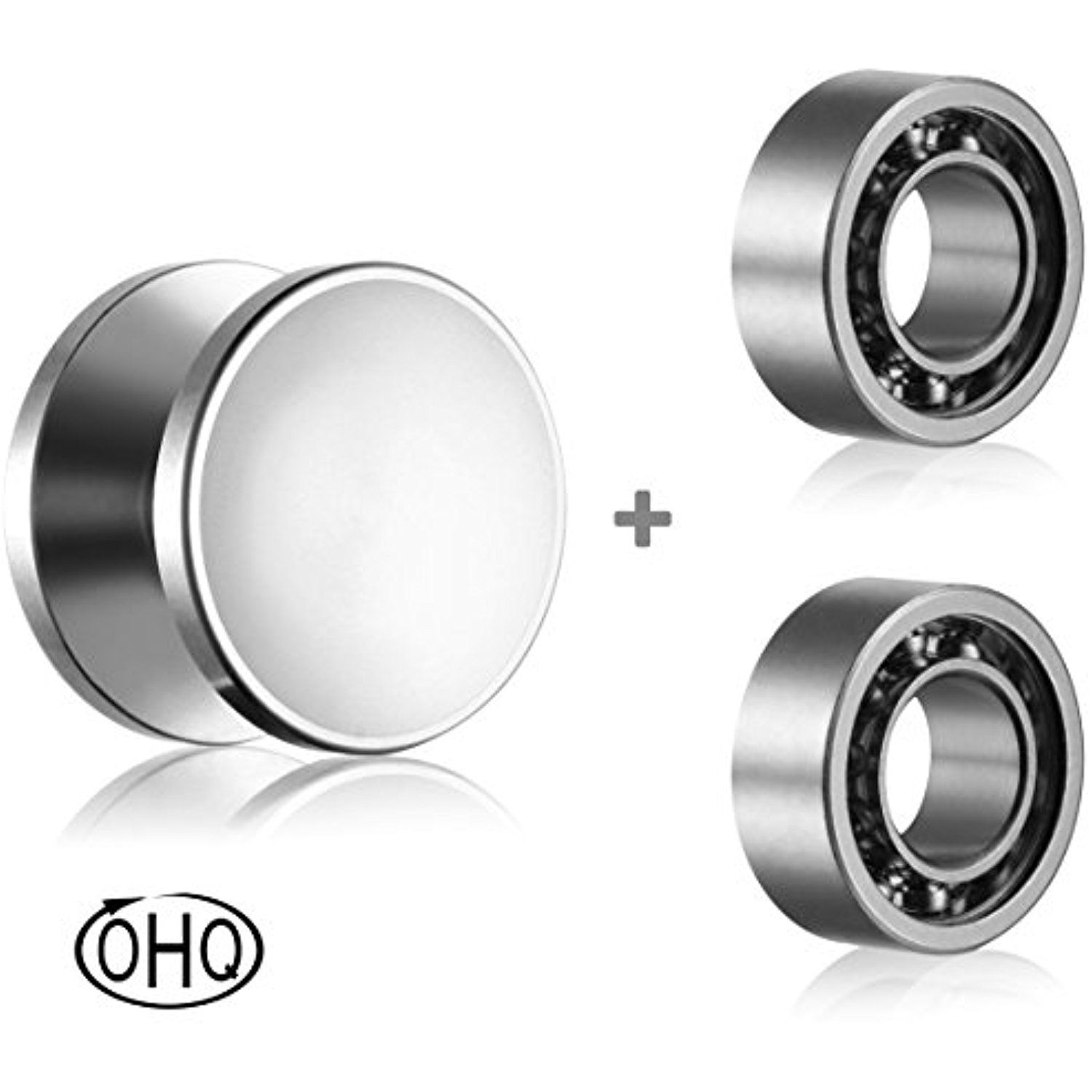 Fidget Spinner Caps and R188 Bearings Set - Replacement Parts for
