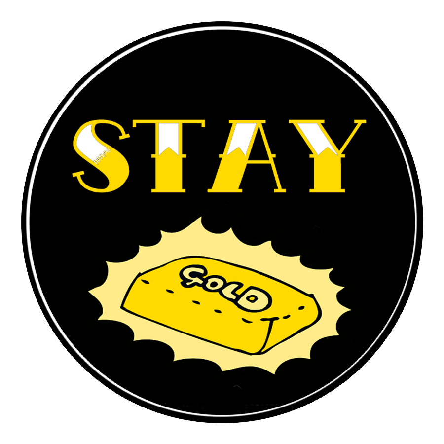 """Stay Gold"" Ponyboy Circle patch symbol logo tattoofont"