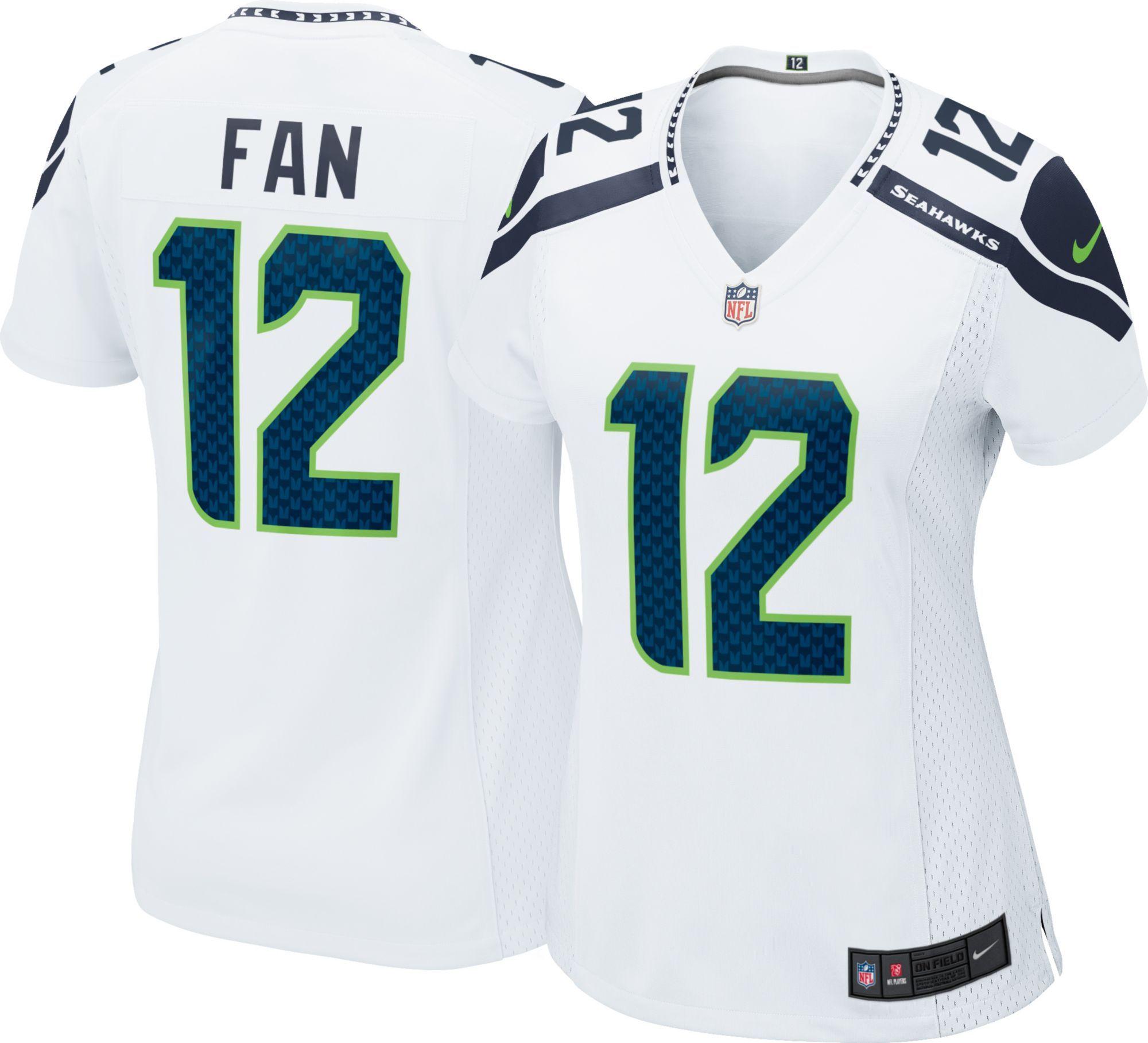 Nike Women S Away Game Jersey Seattle Fan 12 Size Medium Team Jersey Seahawks