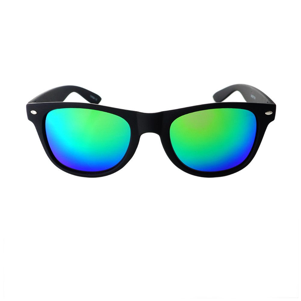 #relfective #mirror #lens #rubberized #wayfarer #sunglasses #shades #retro #vintage #fashion #matte #black #green #blue