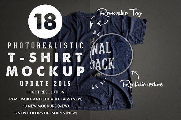 Download Photorealistic T Shirt Mockup 2 By Antonio Padilla On Creativemarket Tshirt Mockup Shirt Mockup Mockup