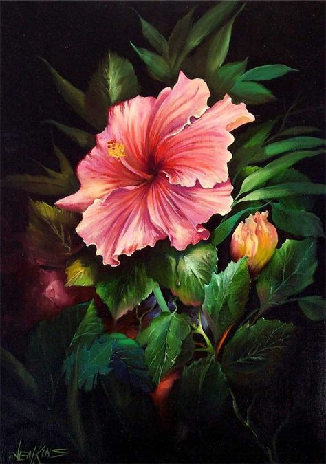 04 tropischer rosa hibiskus gary jenkins deutsch pinterest hibiskus bl mchen. Black Bedroom Furniture Sets. Home Design Ideas