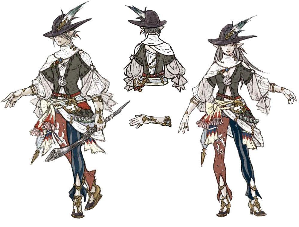 final fantasy xiv 2 0 jobs concept by akihiko yoshida character