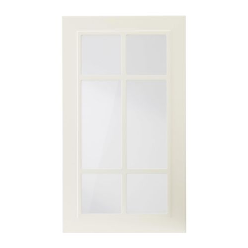 STÅT Vitrinentür IKEA Die Tür kann wahlweise mit der Öffnung nach rechts oder links montiert werden.