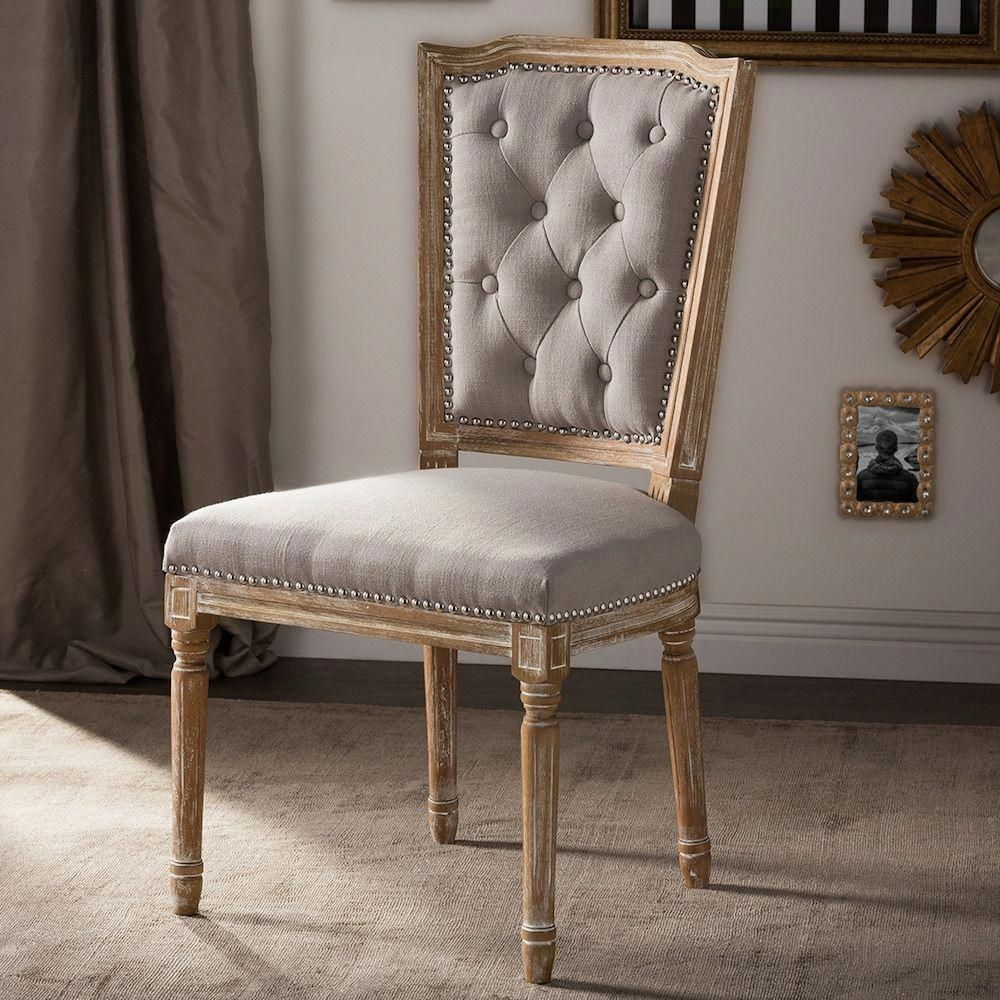 baxton studio estelle shabby chic dining chair in 2019 shabby chic rh pinterest com
