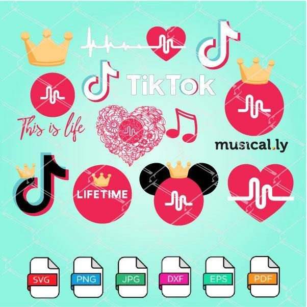 Tik Tok Svg Bundle Tik Tok Logo Vector Musically Logo With Crown Vozeli Com