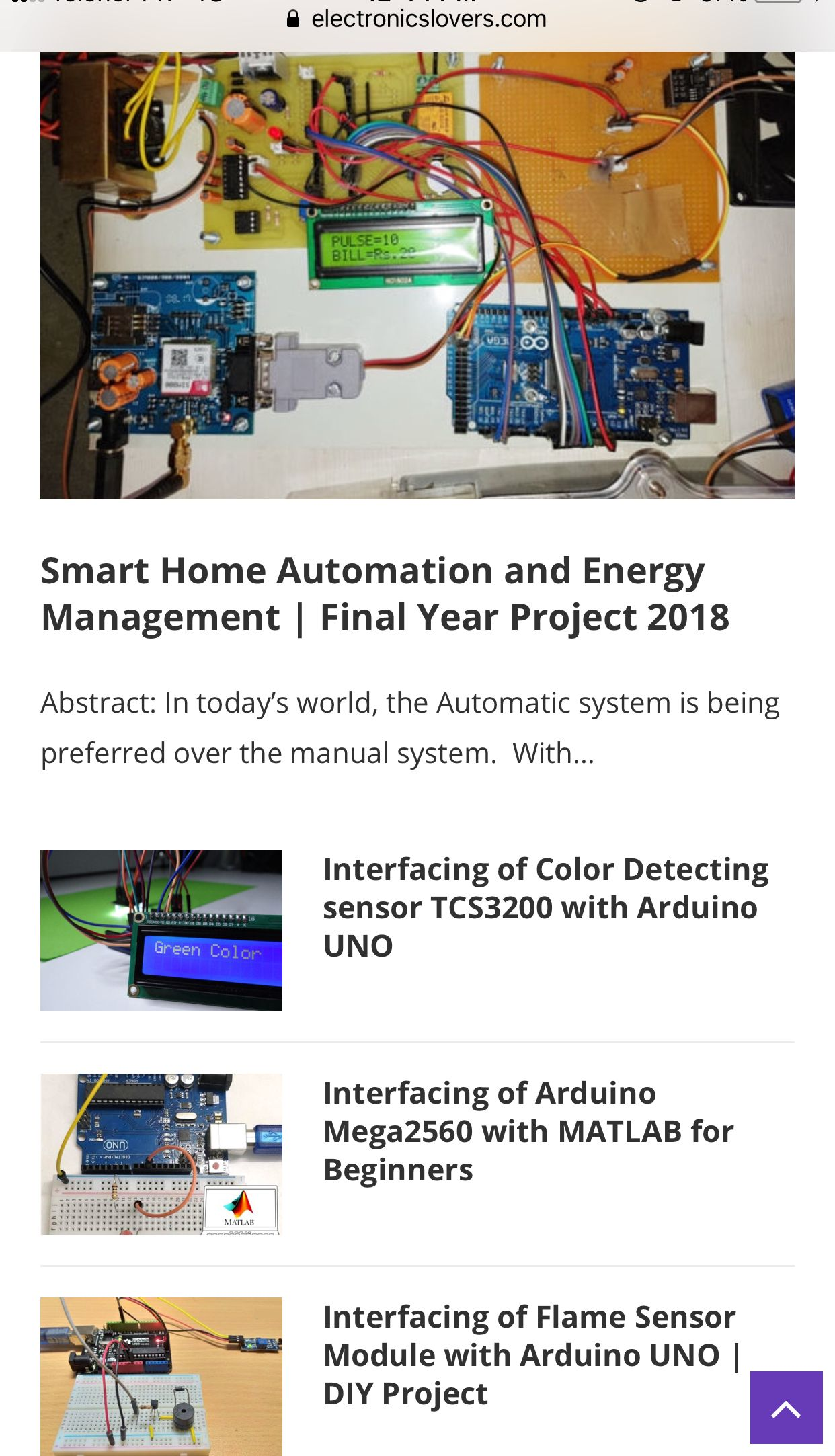 Arduino And Iot Based Projects Electronics Diy In 2018 For Dummies Engineering Project Electronic