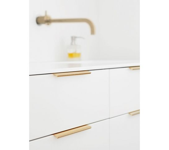 Edge Profile Door Handle Polished Lacquered Brass