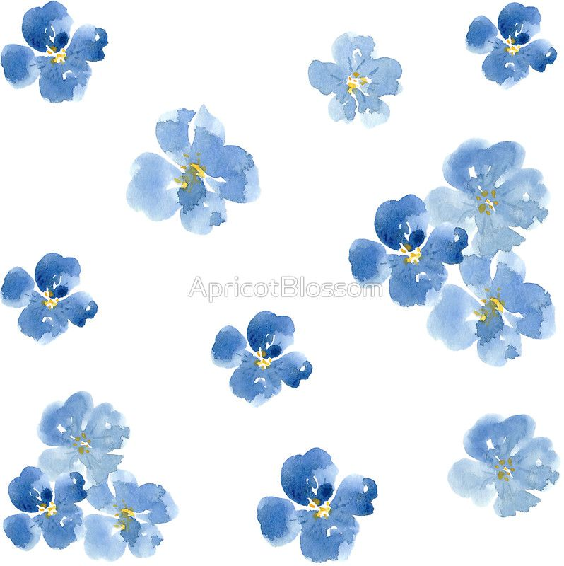 Blue Flower Sticker
