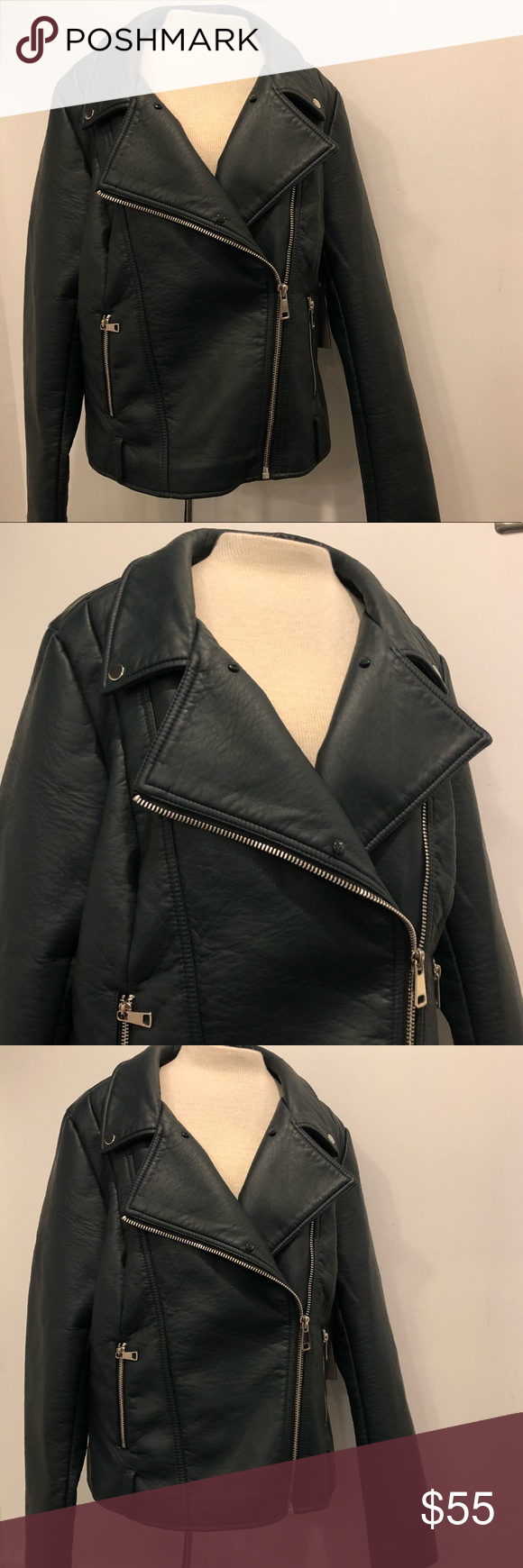 NWOT FOREVER 21 PLUS PREMIUM FAUX LEATHER JACKET Forever