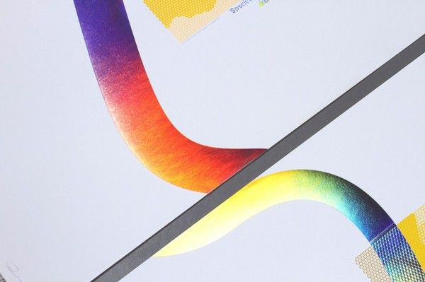 Rainbow Metallic Foil Print Graphic Design Inspiration Abstract Images