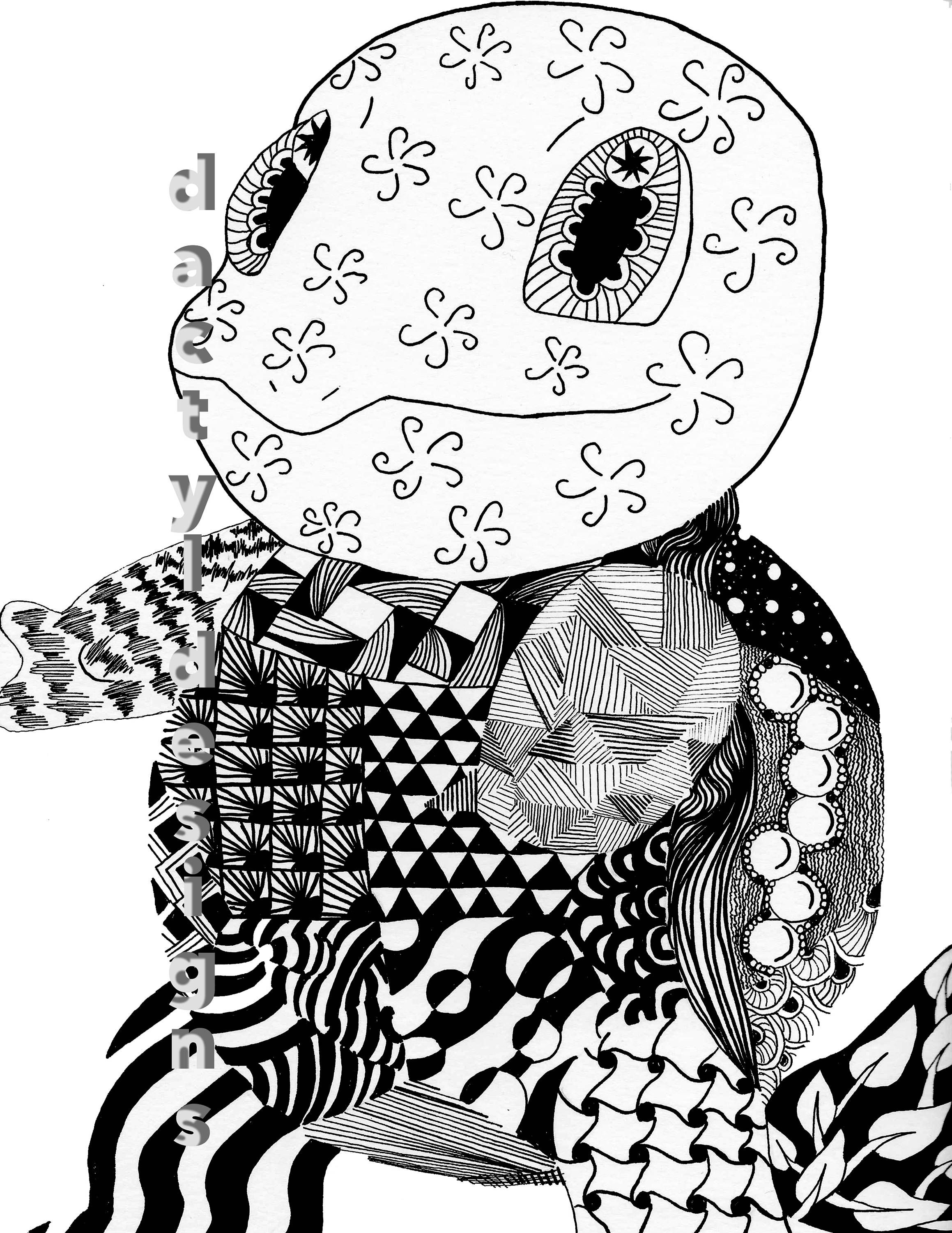 Zentangle squirtle by dactyldesignsnmore on etsy art pinterest