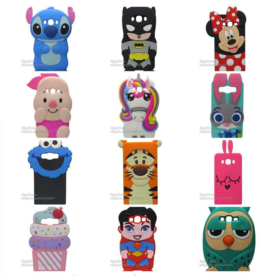 Fashion 3D Cartoon Stitch Minnie Pig Sulley Soft Silicone Rubber ...