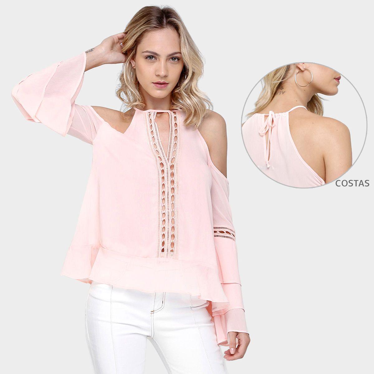 Compre Blusa Colcci Recortes Rendada Rosa na Zattini a nova loja de moda online da Netshoes. Encontre Sapatos, Sandálias, Bolsas e Acessórios. Clique e Confira!