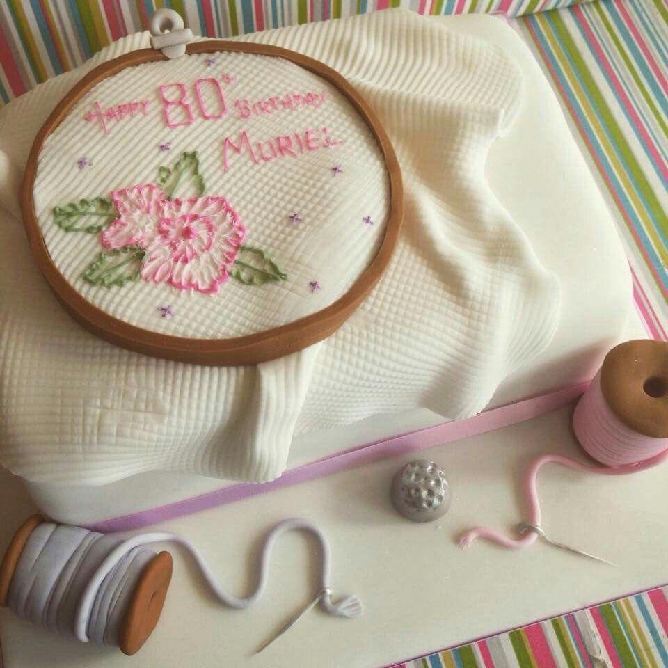 Cross-stitch cake