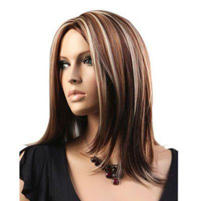 pics of high lights and low lights on medium length hair