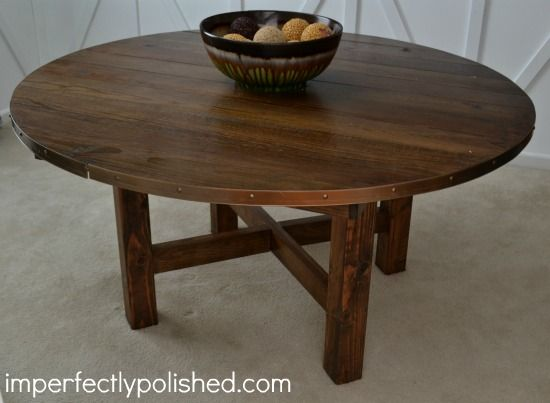 This DIY Rustic Round Table Would Be Great For The Cake Or A Photo Display!