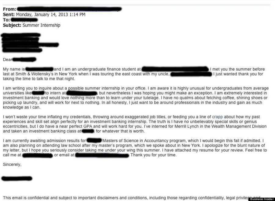 Honest Cover Letter Goes Viral on Wall Street - what goes in a cover letter