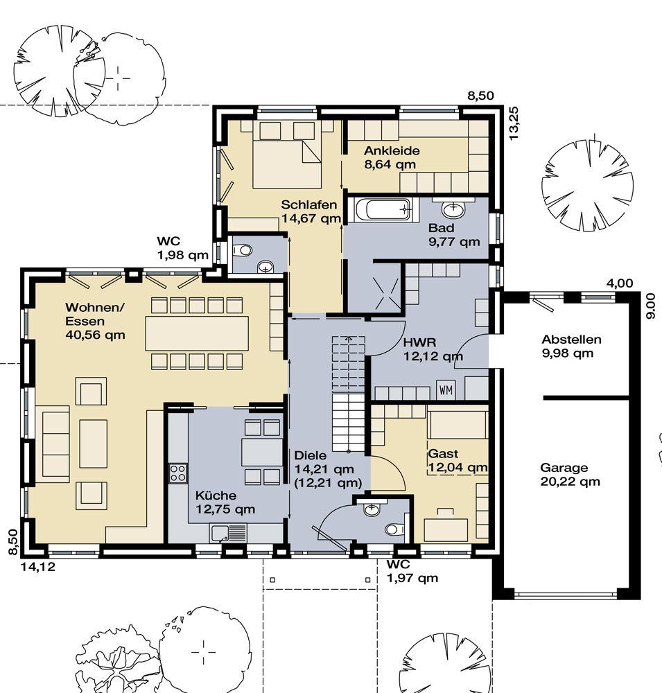grundriss erdgeschoss mimari planlar pinterest haus bungalow und grundriss. Black Bedroom Furniture Sets. Home Design Ideas