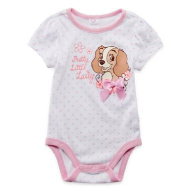 bef93a3a6c7c5 Aww love this for a litte girl..Disney Baby Collection Lady and the Tramp  Bodysuit - Girls newborn-24m found at  JCPenney