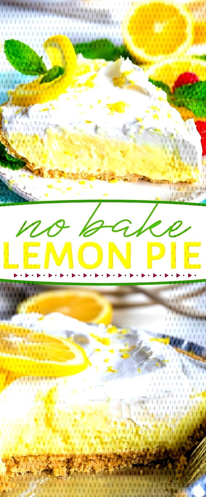 This easy No Bake Lemon Pie is perfect for hot summer days! Loaded with tart lemon flavor, the crea