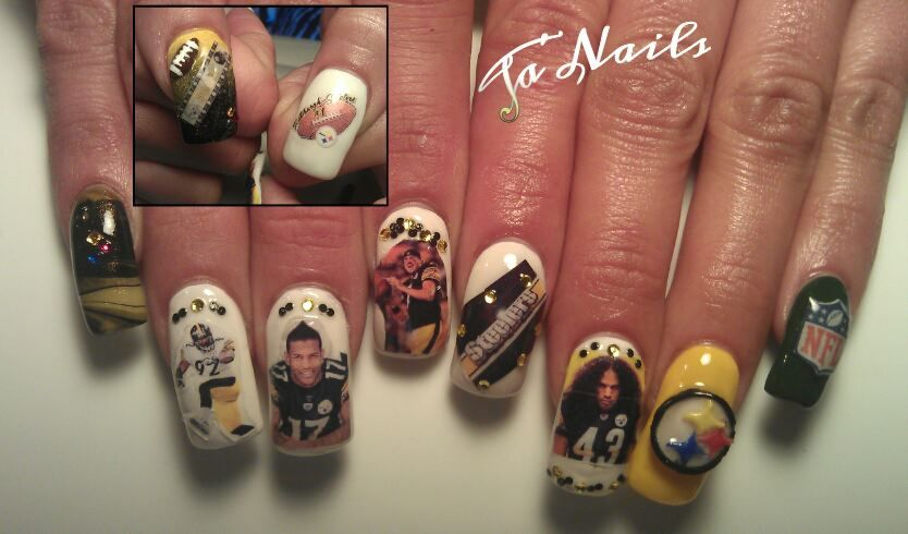 pittsburgh steelers i know my sis a m will love this steelers pittsburgh steelers nails pinterest