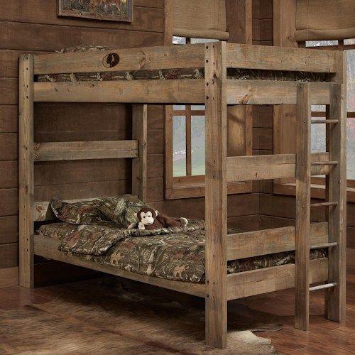 Simply Bunk Beds Mossy Oak Mossy Oak Rustic Style Twin