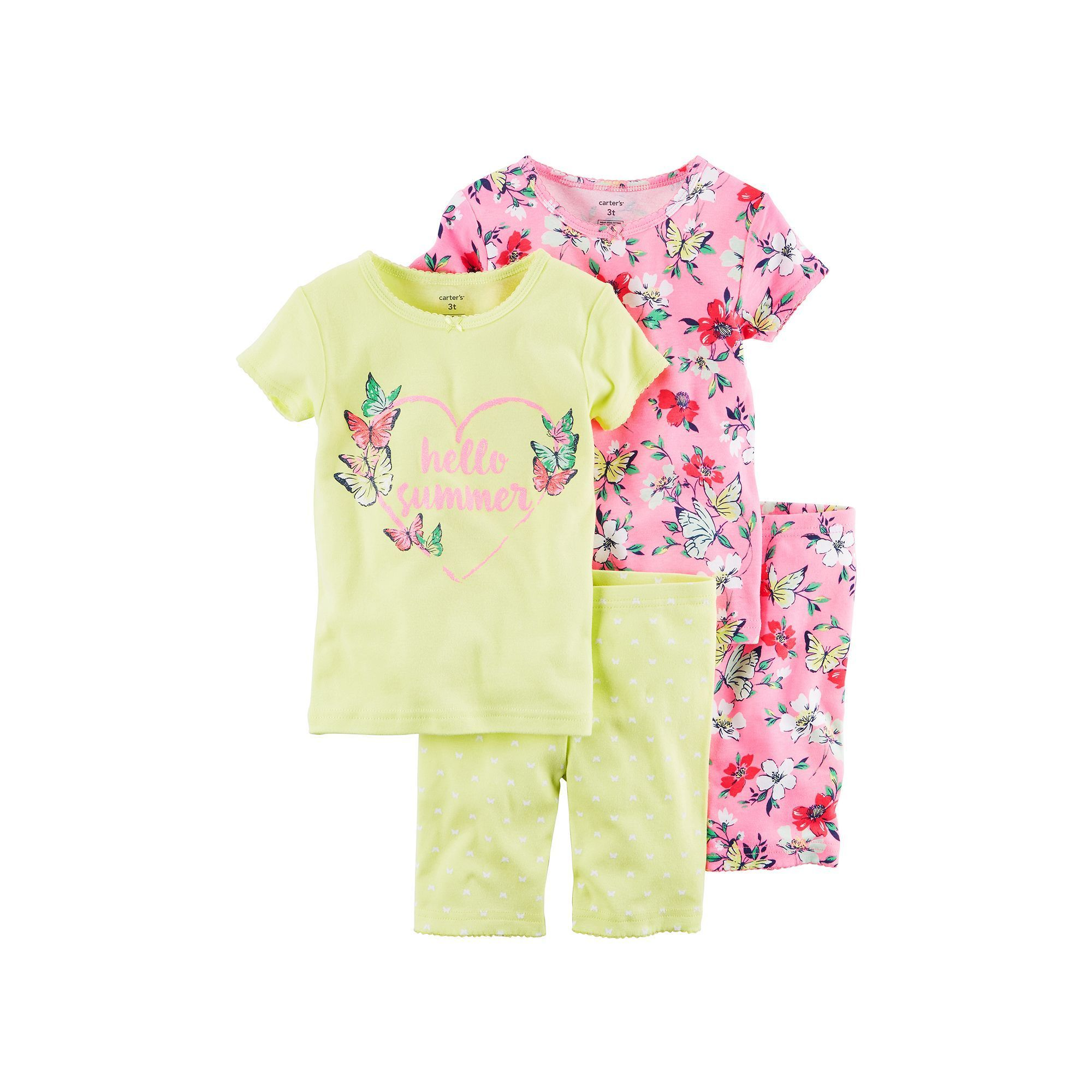 776c4fbbe Girls 4-12 Carter's 4-pc. Graphic Pajama Set, Girl's, Size: 10, Pink