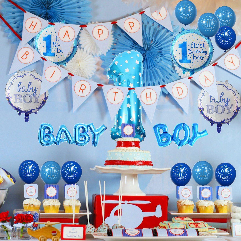 1 Geburtstag Dekoration Aufblasbar Helium Folie Ballons
