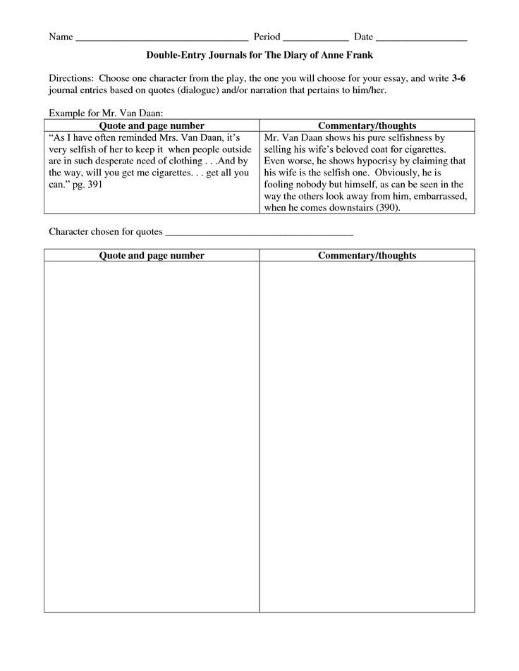 Image Result For Double Entry Journal Template