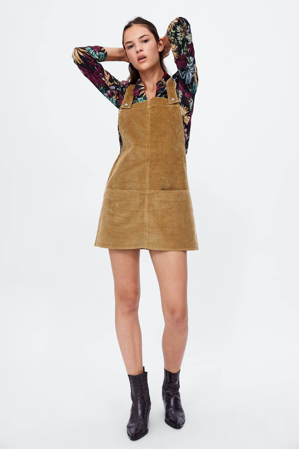 9ebfdfa216d9d Image 1 of CORDUROY OVERALL DRESS from Zara | style | Corduroy ...